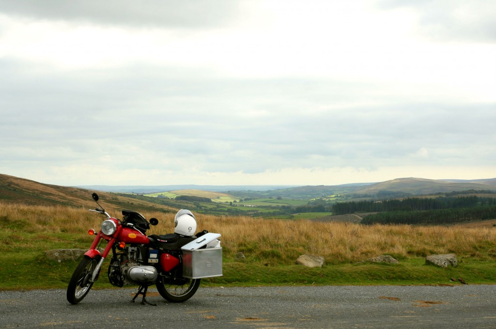 Ebie the motorbike and a beautiful view